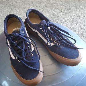 Men's Navy Suede Vans Chima Pro Ultracush 3D Shoes